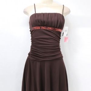 City Triangles Brown Sequin Dress Sz S NWT